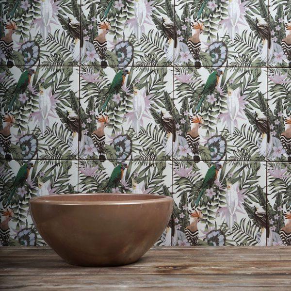 Birds Printed Ceramic Tile