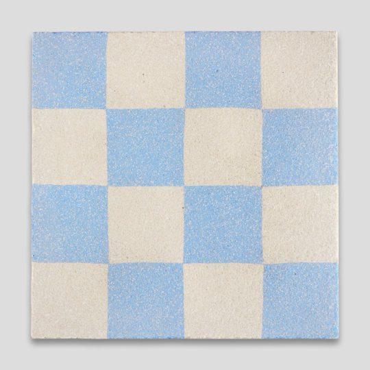Blue Checkers Sanded 602 Encaustic Cement Tile
