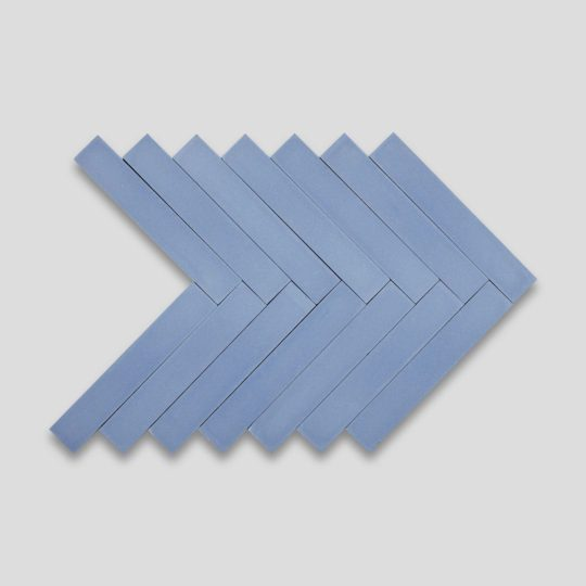 Blue Herringbone Encaustic Cement Tile