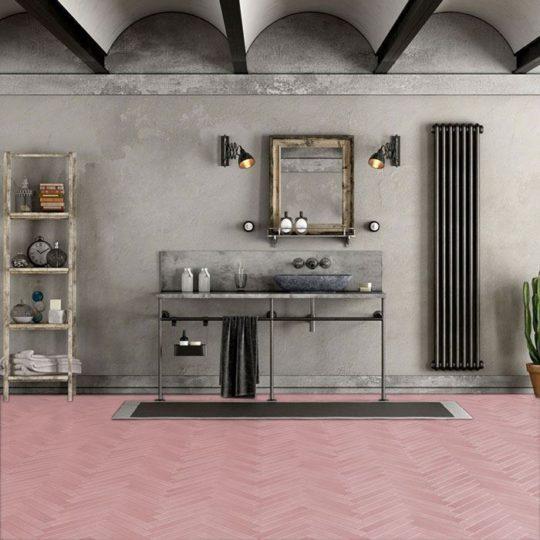 Candy Herringbone Encaustic Cement Tile