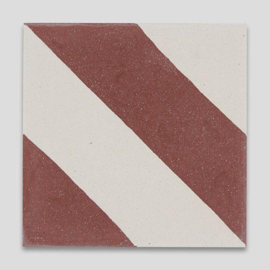 Cross Stripe Burgundy 601 Encaustic Cement Tile