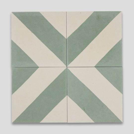 Cross Stripe Green 602 Encaustic Cement Tile