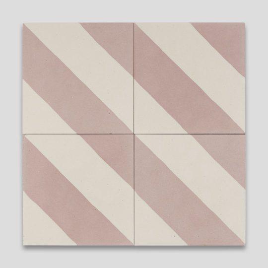 Cross Stripe Pink 601 Encaustic Cement Tile