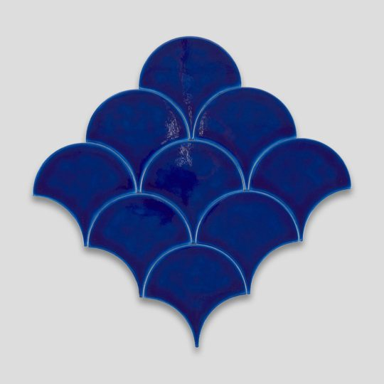 Fish Scale Blue Ceramic Fish Scale Tile