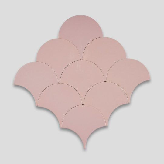 Fish Scale Pink Ceramic Fish Scale Tile