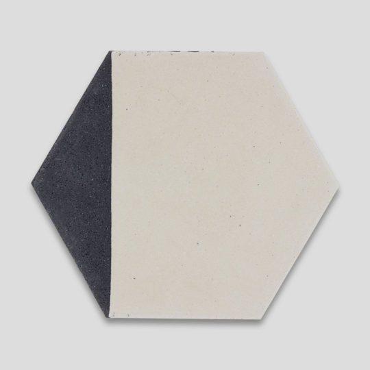 Hex Black Caret 601 Hexagon Encaustic Cement Tile