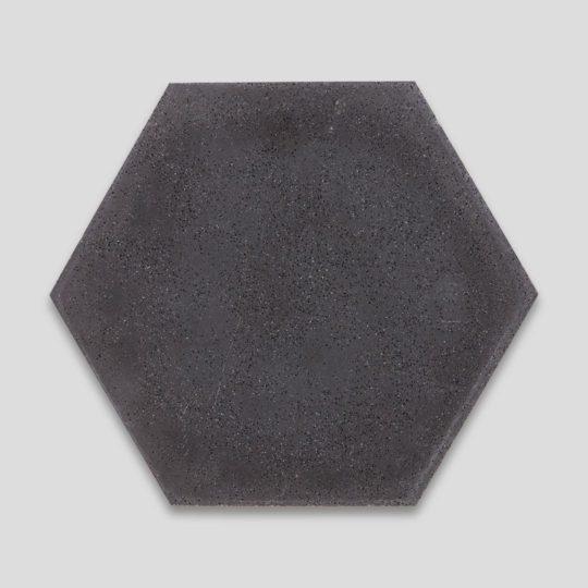 Hex Plain Deep Black Hexagon Encaustic Cement