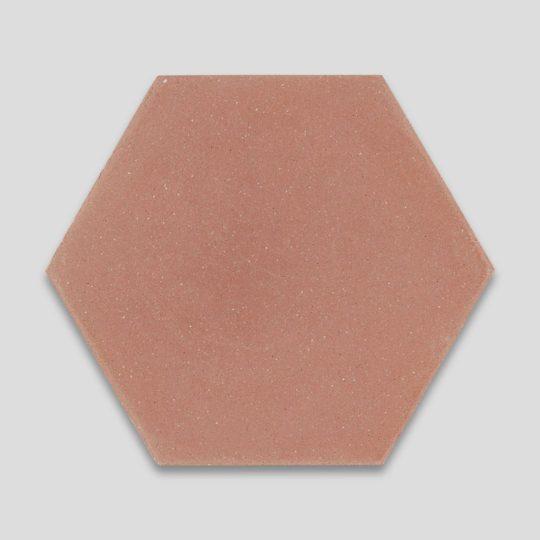Hex Plain Peach Hexagon Encaustic Cement Tile