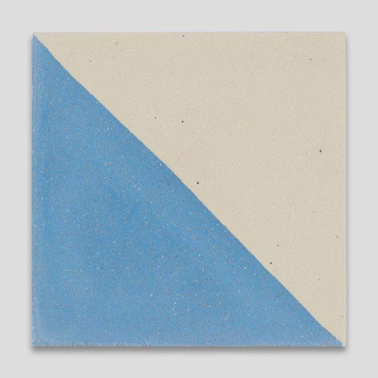 Magic Triangle Blue Encaustic Cement Tile