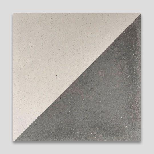 Magic Triangle Gray Encaustic Cement Tile