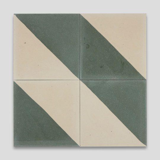 Magic Triangle Green 602 Encaustic Cement Tile