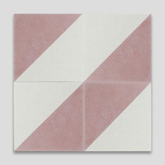 Magic Triangle Pink Encaustic Cement Tile
