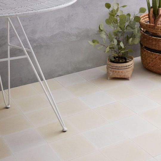 Pure White Encaustic Cement Tile