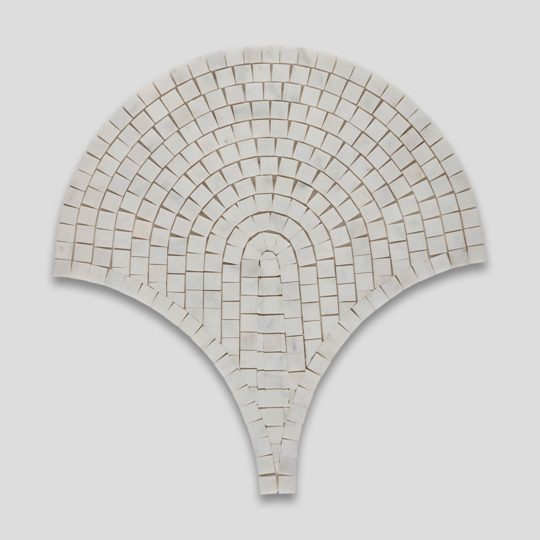 White Marble Mosaic Fish Scale Tile