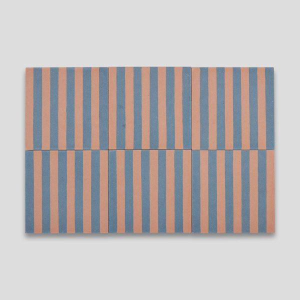 Yorkshire Stripes Encaustic Cement Tile