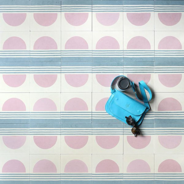 Sunset Stripes Encaustic Cement Tile