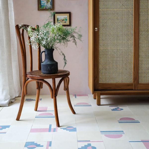 Sunset Patchwork Encaustic Cement Tile