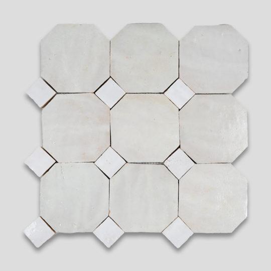 White Octagon Zellige