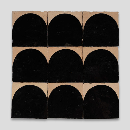 Black Arch Terracotta Zellige