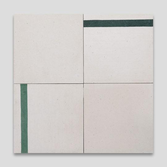 Duo Green Stripe Encaustic Tile