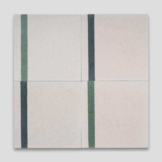 Duo Green Stripe Encaustic Cement Tile